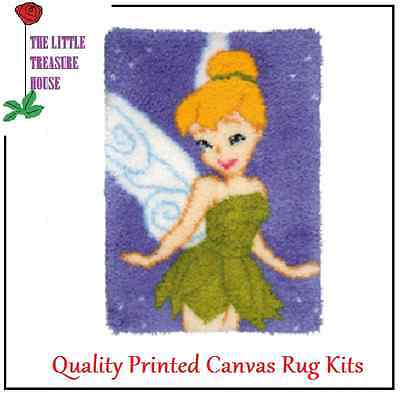 Fairy Printed Canvas Latch Hook Rug Kit - Rug Making - Everything included