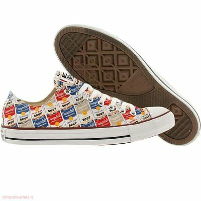 """Converse All Star """"ANDY WARHOL"""" Campbell's Soup Oxford White Casino 147053F NEW"""