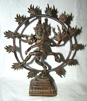 Old Unique Fine brass made RARE Statue of Dancing Lord Nataraja from South India