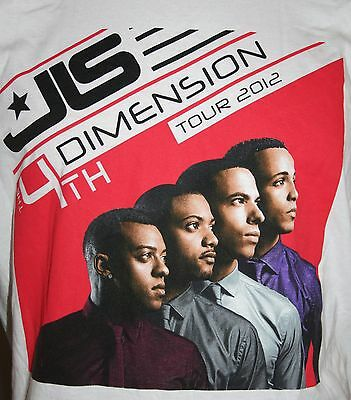 JLS Pop Rock 4th Dimension Tour 2012 T Shirts in size X-Large only