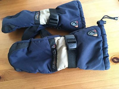 Rossignol snowboard Medium mittens Blue - Excellent condition used once FREE P&P