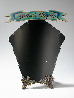 Rare Michal Negrin Metal Easel Branded Store Display Necklace Bracelet Earrings