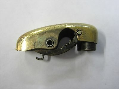 Evans Clipper lighter repair part snuffer gold tone w/ springs- Release intact