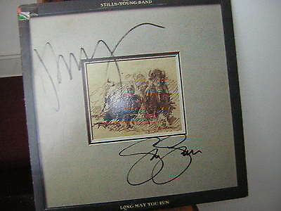 Neil Young Steven Stills Signed Lp Long May You Run 1976