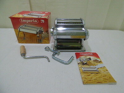Imperia PASTA MACHINE DAL1932 Stainless Italy Instruction Manual in 10 Languages
