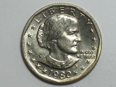 1980-P Susan B Anthony Dollar - Uncirculated Us $ Coin Sba - Philadelphia Mint