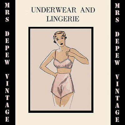 Vintage Sewing Book 1930's Underwear and Lingerie E-book Parts 1 & 2 on CD
