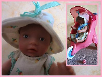 Mini baby born doll, Zapf creations, with carriage, very nice