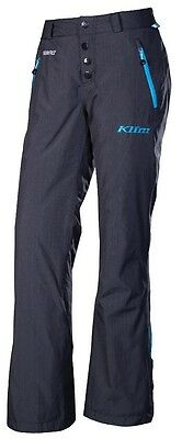 Closeout Klim Womens Intrigue Insulated Snowmobile Pants Blue/Black Size 2XL