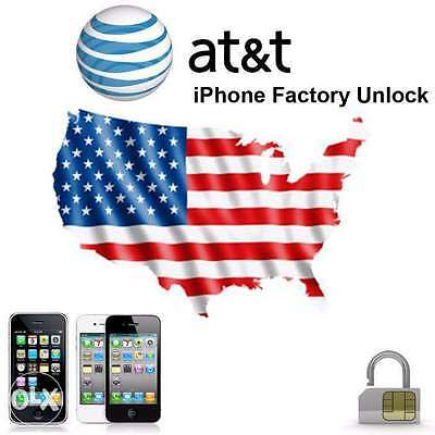[1-72hrs] Factory Unlock AT&T iPhone 2G/3GS/4/4S/5/5C/5S/6/6+/6S/6S+/SE [CLEAN]