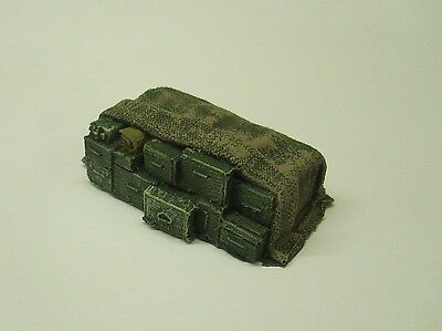 Wargames scenery. Stack of covered weapon crates.1/56 scale. 28mm