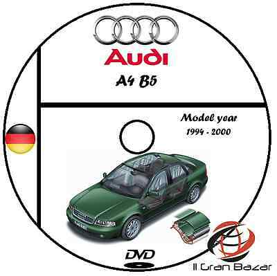 Manuale Officina Audi A4 B5 Afc - Apb My 1994 - 2000 Workshop Manual Service Dvd
