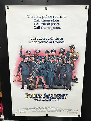 Original 1984 POLICE ACADEMY One Sheet Movie Poster Rolled #NSS84003