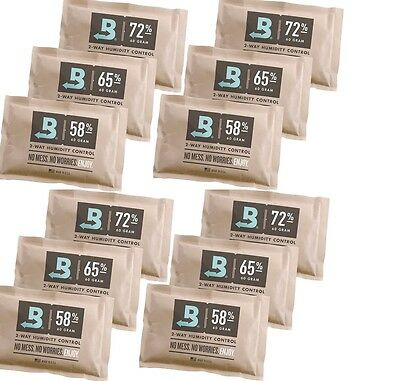 Dry Cigars RECOVERY KIT for 75 to 100 Cigars - 12 BOVEDA Packs (58%, 65%, 72%)
