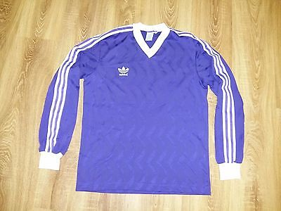 Adidas 80s very rare vintage Purple made in France long sleave shirt size M