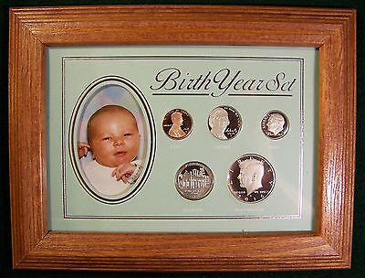 2016 Deluxe Birth Year Proof Coin Set in Frame- A Unique and Personal Gift Idea!