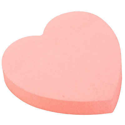 Post-it Heart Shape Note Salmon Pink Self Adhesive Pads 120 sheets