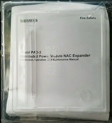 NEW SIEMENS PAD-3-MB Fire Alarm 500-699080 NAC Expander Distributed Power Supply
