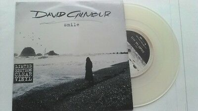 """7"""" David Gilmour ( Pink Floyd) """" Smile """" Clear Vinyl Limited Edition"""