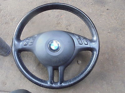 bmw e39-e46-e53 steering wheel and airbag complete from 2004
