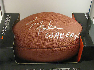 "Tracy Rocker Signed NIKE Full Size Football w/ Ins ""WAR EAGLE"" Auburn Tigers Au"