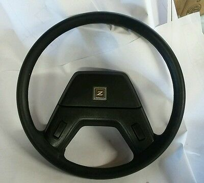 79-83 Datsun 280Zx Steering Wheel With Horn Button Black Nice Oem Parts