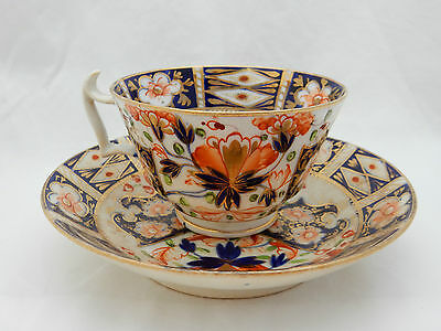Stunning Antique Early Royal Crown Derby Imari Duo Tea Cup Saucer Bowl 1806-1825