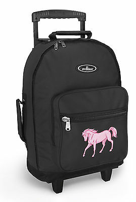 CUTE HORSE Rolling Backpack SCHOOL BAGS with Wheels!