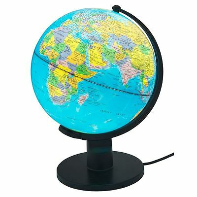 25cm Light Up Globe Earth Map With Stand  Educational Toys Boys/Girls