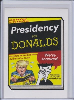 Topps GPK disg-Race to the White House: Wacky Packages: Presidency for Donalds