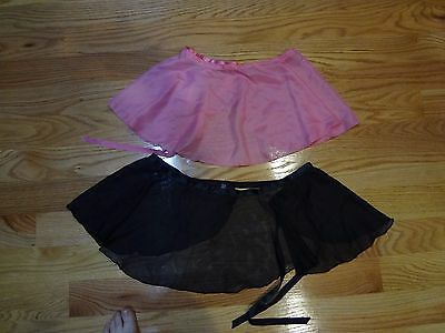 A Pair Girl' s  Beautiful Pink and Black Color  Dancing Shot Skirts  (size:12)