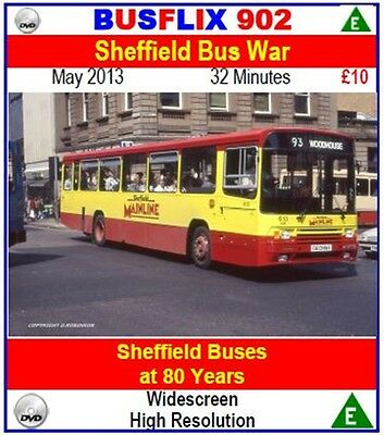 Busflix Films BF 902 Sheffield Bus War, Sheffield Buses at 80 Years
