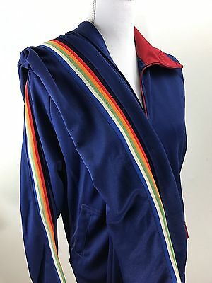 Vintage Youngbloods Tracksuit Medium Side Rainbow Stripes Polyester 70's 80's
