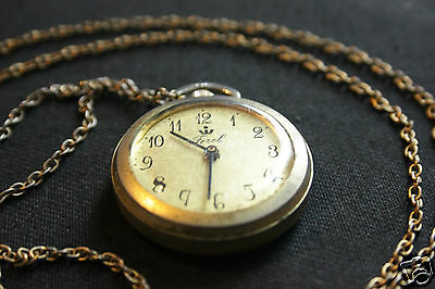 Necklace Watch and Chain - Possibly Gold, no markings.