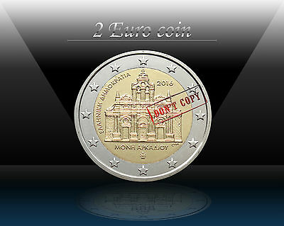 """GREECE 2 EURO coin 2016 """" 150 years from the Arkadi Monastery Torching """" UNC"""