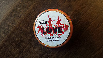 2014 The Beatles Love Cirque Du Soleil At The Mirage Promo Button Pin Badge