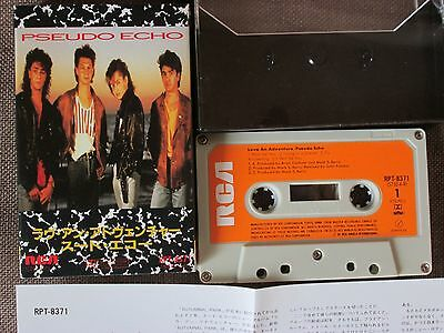 PSEUDO ECHO Love An Adventure JAPAN CASSETTE w/Slip Case+Insert RPT-8731 FREE SH