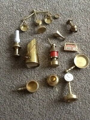 Collection of Miniature Brass and Metal Dolls House Items