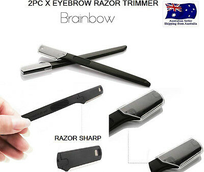 2 PCS Face Eyebrow Hair Removal Safety Razor Trimmer Shaper Shaver Blade brow