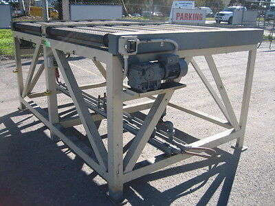 Motorised Roller Conveyor 2 x Roller Sections Separately Driven - Heavy Duty