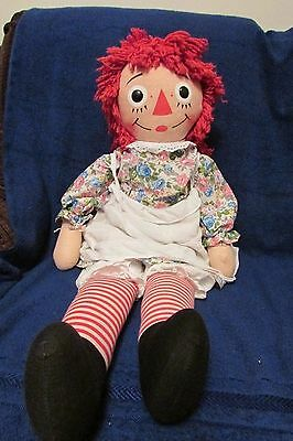 Vintage Raggedy Ann Doll - 31 inches