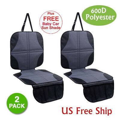 2X Infant Baby Child Easy Clean Anti-slip Car Seat Protector Mat Cushion Cover J