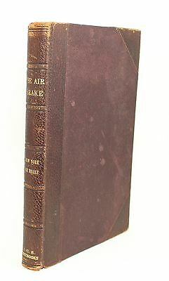Textbook on New York Air Brake Engineer Book Antique Vtg Leather Railroad Train