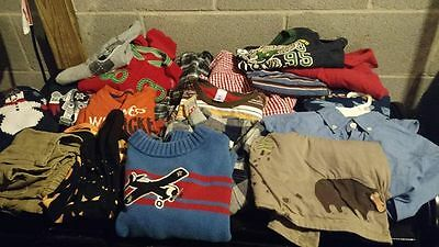 Size 5/5T Fall Winter Boy Clothes Shirts Pants & Sweater Gymboree Old Navy 18 PC