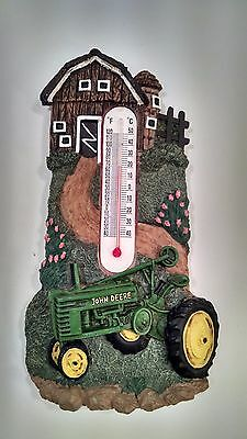 Ceramic John Deer Thermometer Country Charm