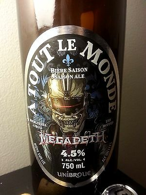Megadeth Beer Unibroue Empty Bottle Limited Edition A Tout Le Monde