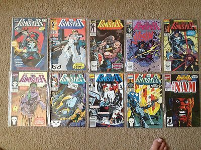 10 Marvel Comic Books 9 The Punisher and a #1 The Punisher The Armory