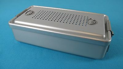 """Case Medical Universal Sterilization Container W. Tray 12"""" x 6""""x 3"""" (EXCELLENT)"""