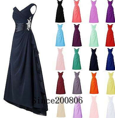 2017 Chiffon Long Bridesmaid Formal Gown Ball Party Cocktail Evening Prom Dress