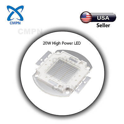 1Pcs 20W High Power LED Chip SMD Green 520-530nm Light Lamp Diodes Beads Buld